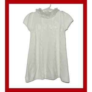 Gymboree Faux Fur Collar Sweater Dress Bow 2T